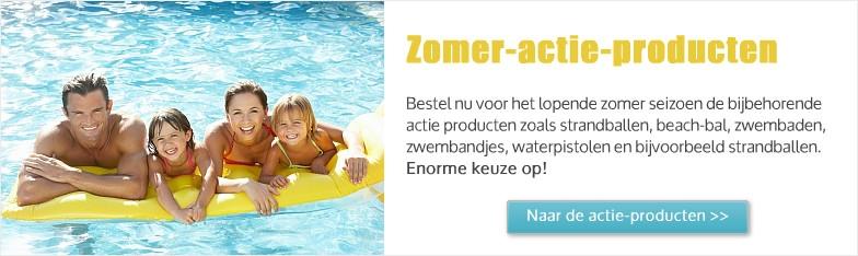 zomer acties producten, water pistolen, zwembandjes, zwembaden direct van de groothandel