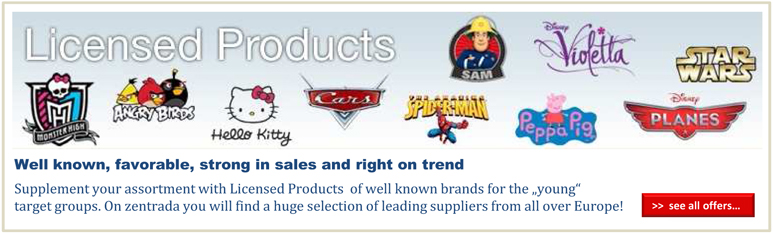 Licensed Products from wholesale