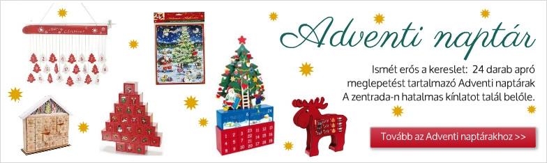 Advent, karácsony, adventi-naptár a nagykereskedelemben