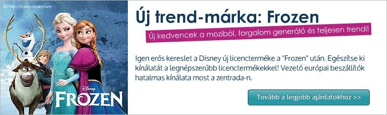 Frozen licenc márka  a nagykereskedelemben