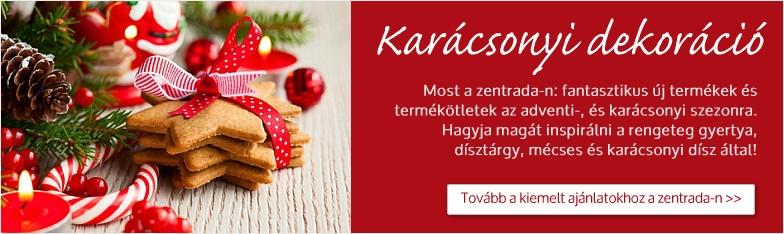 Karácsony, advent, karácsonyfa, karácsonyi dekoráció  a nagykereskedelemben