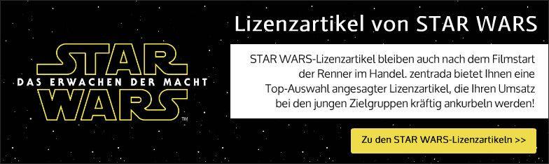 Star Wars-Lizenzartikel Grosshandel